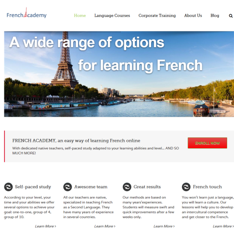 French academy website